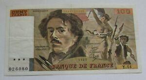 Billet de 100 francs Delacroix 1981
