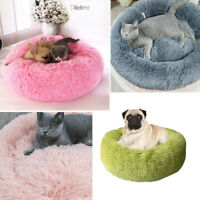 Soft Plush Dog Bed Washable Fluffy Cushion Warm Luxury Pet Cat Puppy Mat Nest