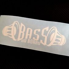 WHITE BASS on board Car Sticker Decal Graphic VDUB Drift JDM ICE SPL Subwoofer