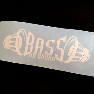 WHITE BASS on board Car Sticker Decal Graphic VDUB Drift JDM ICE SPL Subwoofer