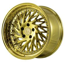 Aodhan DS03 18x9.5 +15 5x114.3 Vacuum Gold Non-Staggered (Set of 4)