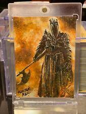 "The Hobbit Battle of the five armies ""Sauron"" sketch card by Mick & Matt Glebe"