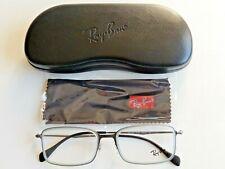 97de76f35 Novo em folha Designer Ray Ban Masculino Metal Prata Fina Receita Armação  Para Óculos