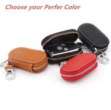 1Pcs Top Layer Leather Fashion Car Smart Remote Key Holder Bags Cases Coffee