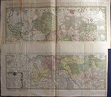 """SACHSEN - riesige """"besondere"""" Landkarte  Homann 1752 Original Ebay Sonderpreis!"""