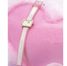 New MONTRE HELLO KITTY Rose & blanche Strass AVON NEUF
