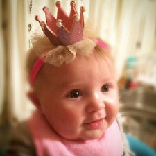 Lovely Pink Kids Toddler Lace Crown Hair Band Headwear Headband Accessories