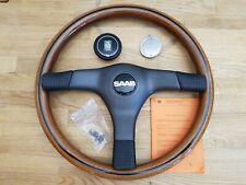 Original Nardi Typ Gara 365 W Holzlenkrad mit KBA 70168 ABE SAAB Emblem