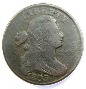 1803 Draped Bust Large Cent 1C S-260 - Certified ANACS VF20 Detail - Rare Date!