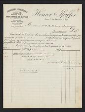 """ANVERS (BELGIQUE) PRODUIT CHIMIQUE pour SAVON """"LOERSCH / HEMER & PFEIFFER"""" 1899"""