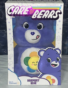 Brand New Care Bears 14 inch Harmony Bear - Purple Exclusive In Hand Fast Ship