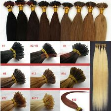 """16""""18""""20""""22""""24""""100S Pre Bonded Glue Stick/I Tip Remy Human Hair Extensions"""