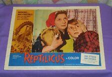 original REPTILICUS lobby card #2 Carl Ottosen Ann Smyrner