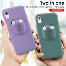 Cover telefono di gomma silicone con custodia Airpods inclusa Iphone 11 Pro Max