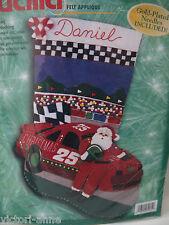 Bucilla Felt Stocking Kit Christmas 500 Race Car Santa 84071