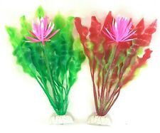 New listing 2 Pack - Flower Plant Artificial Aquarium Plastic Decoration Fish Tank