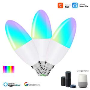 E27 E14 Voice Control Bulb Wifi Remote Timer Lamp TUYA Smart Life APP for Alexa