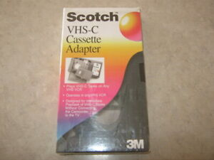 SCOTCH 3M VHS-C Cassette Adapter Brand New! SEALED!