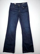 Gap Womens Mid Rise Flared Jeans Size 31 X Tall Comfort Stretch Denim Dark Wash