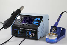 DE-YIHUA 992D+ 2 IN 1 LCD SMD HOT AIR REWORK STATION WITH SOLDERING IRONNEW 220V