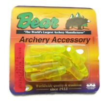 12 Pack X-Bow Nock/Strike Vintage Bear Archery Bright Yellow Crossbow 7007-000