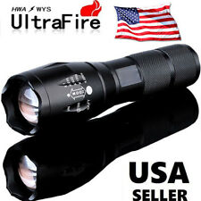 Tactical 90000LM T6 LED Military 18650 Zoomable Super Bright Flashlight Torch US