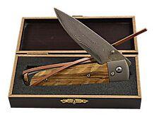 Haller Damastmesser Taschenmesser Jagdmesser Einhandmesser Geschenkbox