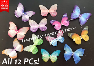 12 PCs Butterfly Hair Clips for Kids to Adults, US SELLER & FREE SHIPPING!