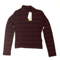 Levi's Women's Textured Mock Neck Slim Fit CroppedTee Shirt T-Shirt, XS