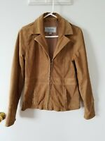 Wilson's Leather Jacket Women's size Small Tan Brown Suede Leather Zip Up