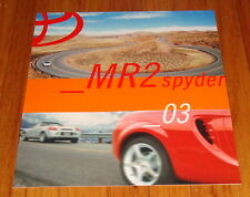 Original 2003 Toyota MR2 Spyder Sales Brochure
