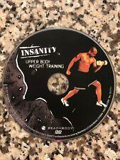 BEACHBODY Insanity Workout UPPER BODY WEIGHT TRAINING DVD Disc