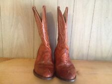 Kids Childrens Youth Cowboy Boots Herencia Genuine Ostrich Size 4 Made In Mexico
