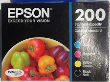 Epson 200 SET GENUINE Black Color ink cartridge XP200 300 310 400 WF-2520 WF2530