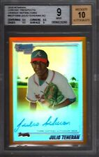 2010 Bowman Chrome Julio Teheran Orange Refractor Auto RC 18/25 BGS 9 Braves