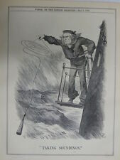 PUNCH cartoon 1888 TAKING SOUNDINGS public opinion