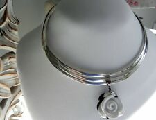 🌹 67g sterling silver 925 Whitney Kelly🌹pendant full HM choker collar necklace