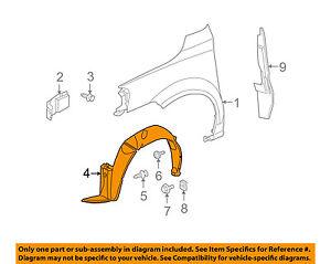 GM OEM-Front Fender Liner Inner Splash Shield Guard Right 15247661