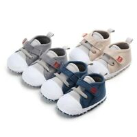 Newborn Toddler Baby Boys Girls Canvas Letter First Walkers Soft Sole Crib Shoes