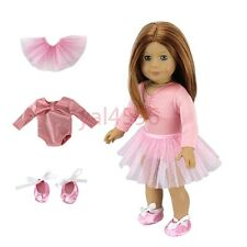 Dance clothes+shoes  for American girl doll of 18 inch doll accessories