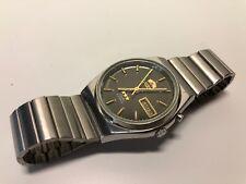 Vintage Watch Reloj - ORIENT Crystal - Manual - Steel Bracelet - FUNCIONA
