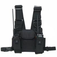 3 Pocket Chest Pack Bag Harness For Walkie Talkie Radio Phone Water bag