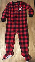 Boy's 3T Zip-Up w/ Footie Christmas Pajamas, Carter's Brand