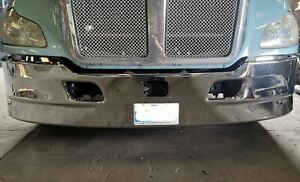 """New Kenworth T680 17"""" Chrome Bumper Collision Avoidance System Cut Out"""