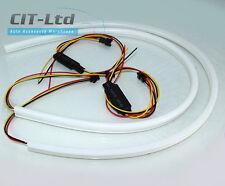 Flexible Daytime Running Lights DRL LED Strip Neon 2pcs 2x 60cm WHITE/YELLOW