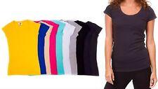 Very Nice Junior's T-Shirt Ec Fashion Juniors Composite Scoop-Neck Size M Beige