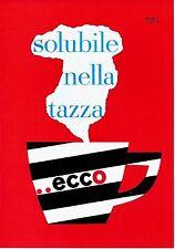 Original vintage poster print ECCO ITALIAN COFFEE 1956 Leupin