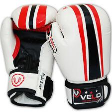 VELO enfants 6oz Gants de boxe d'entrainement Punch Sac MMA Kickboxing Muay Thai w4r