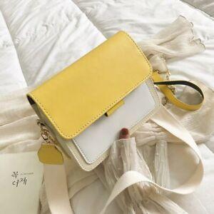 Female Korean Version OF The Contrast Color Flap Bag Wild Fashion Shoulder Bag
