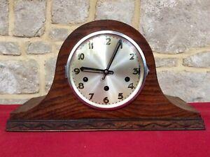 Antique German UWS Mechanical Mantel Clock,Westminster Chime,Pendulum,Large,Old